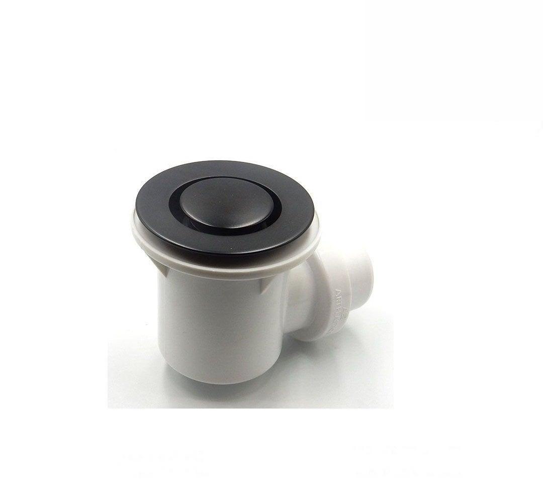 Bounty Brassware Bath Pop Down Waste 40mm Matte Black with Flexible Connector 21831.25
