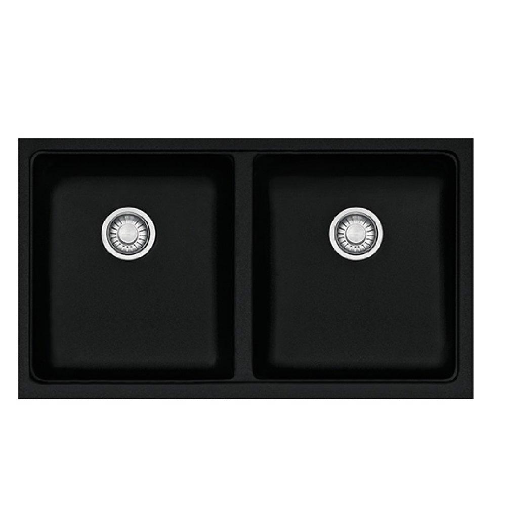 Franke Sink Kubus Granite Double Bowl - Onyx Black- KBG120-B/Onyx Black