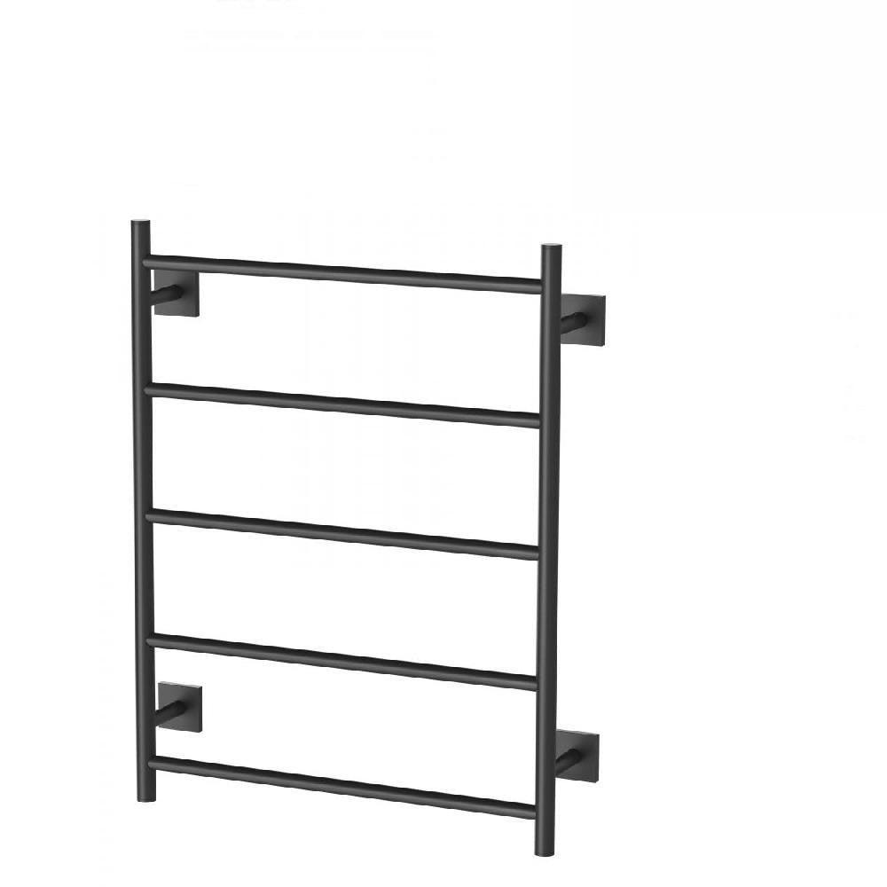 Phoenix Radii Towel Ladder 550 x 740mm Square Plate Matte Black RS870 MB