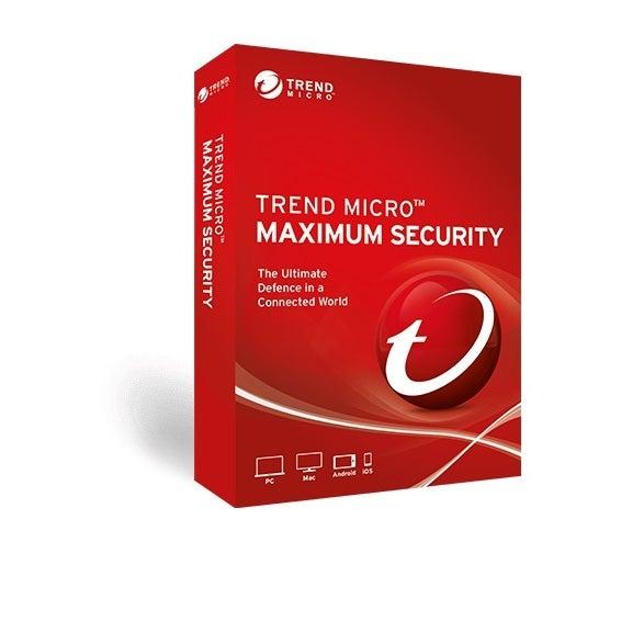 Trend Micro Maximum Security (1 Devices) 12mthRetail Mini Box