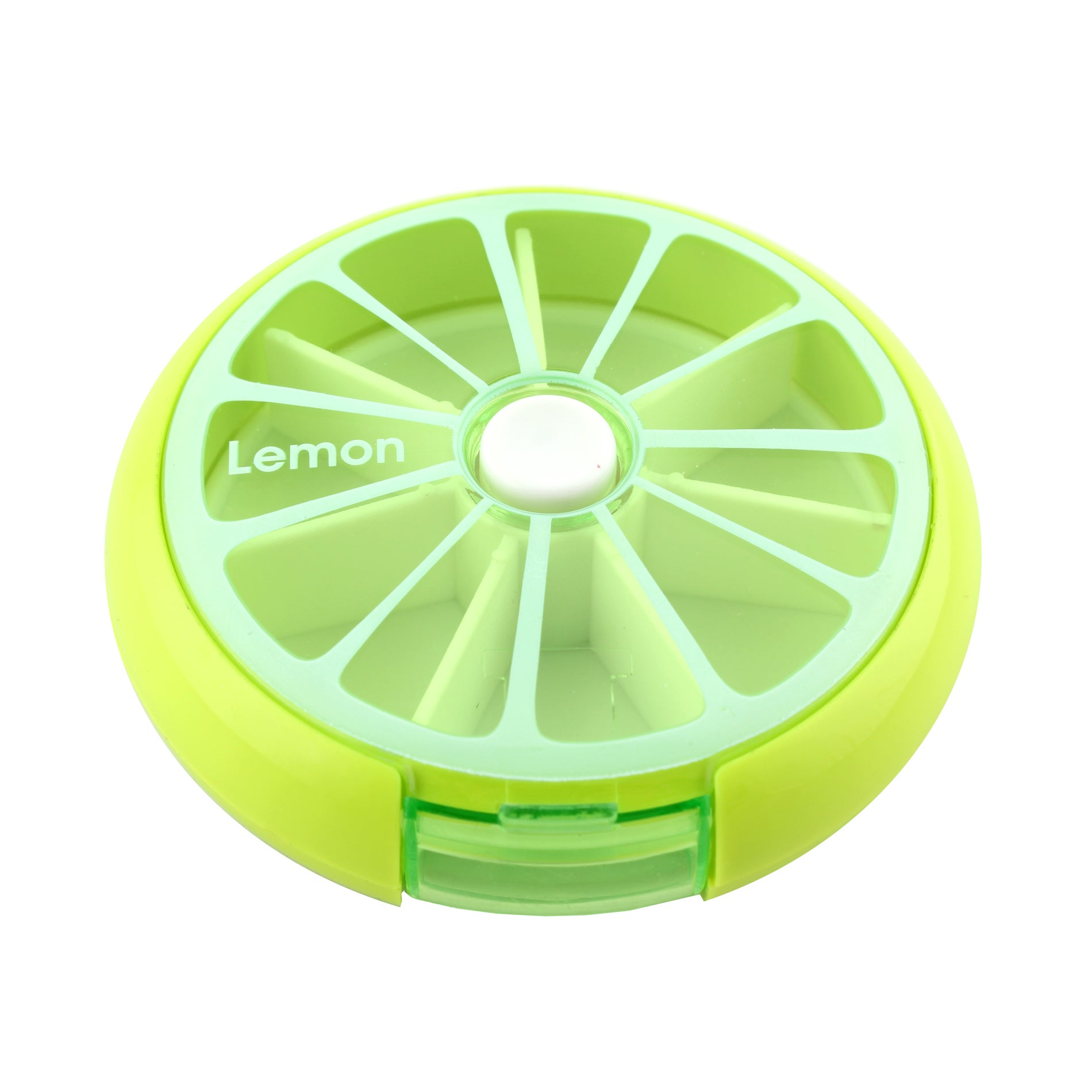 DAILY 7 DAY ROUND PILL BOX STORAGE DISPENSER ORGANISERS TABLETS CASE GREEN