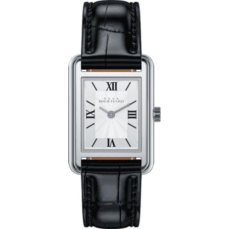 Classique Brochard Silver 23mm Square Luxury Women's Watch