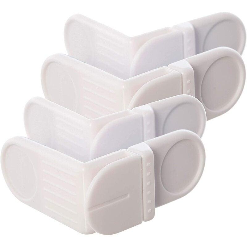 Angle Locks, White, 4 Pack