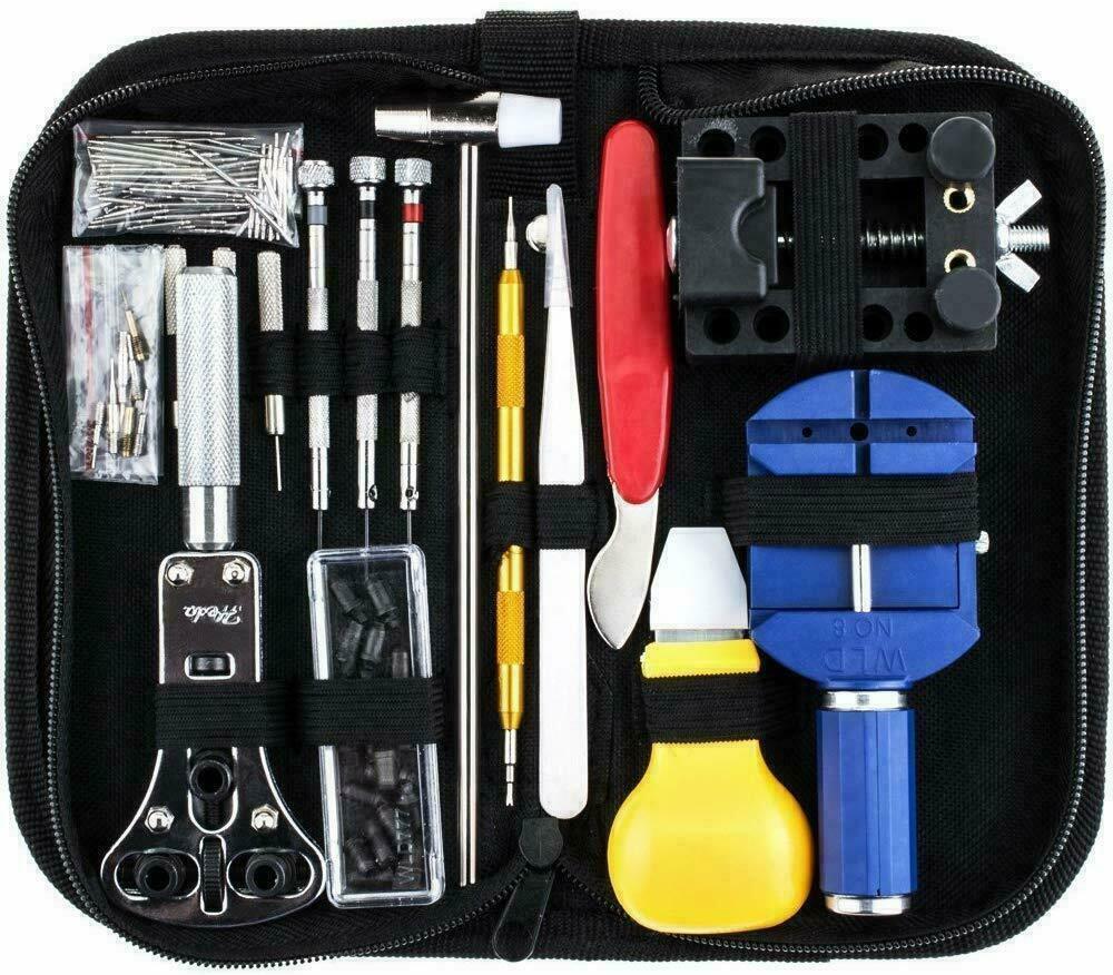 Kingsdun Watch Repair Kit Professional Screwdriver Spring Bar Tool Set, Watch