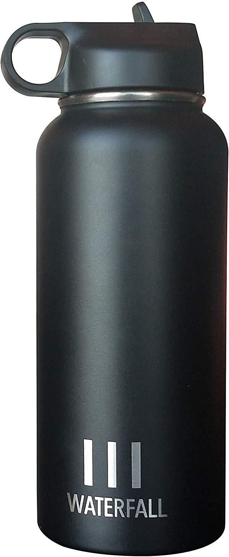 Waterfall Bottle 32oz / 950mL Capacity Black
