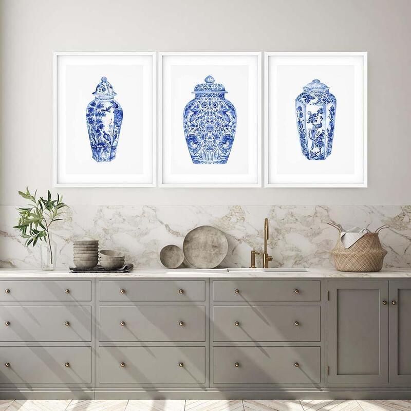 Hamptons Vase 1, 2 & 3 - Unframed