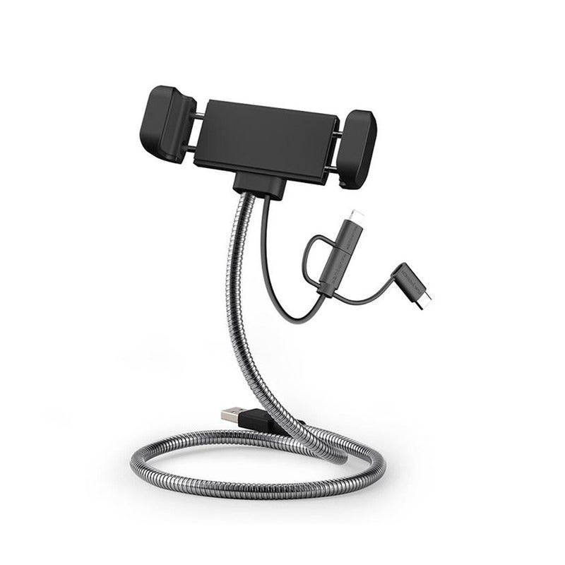 RAVPower 0.6m 3 in 1 Multiple USB Charging Cable Stainless Steel Metal Stand