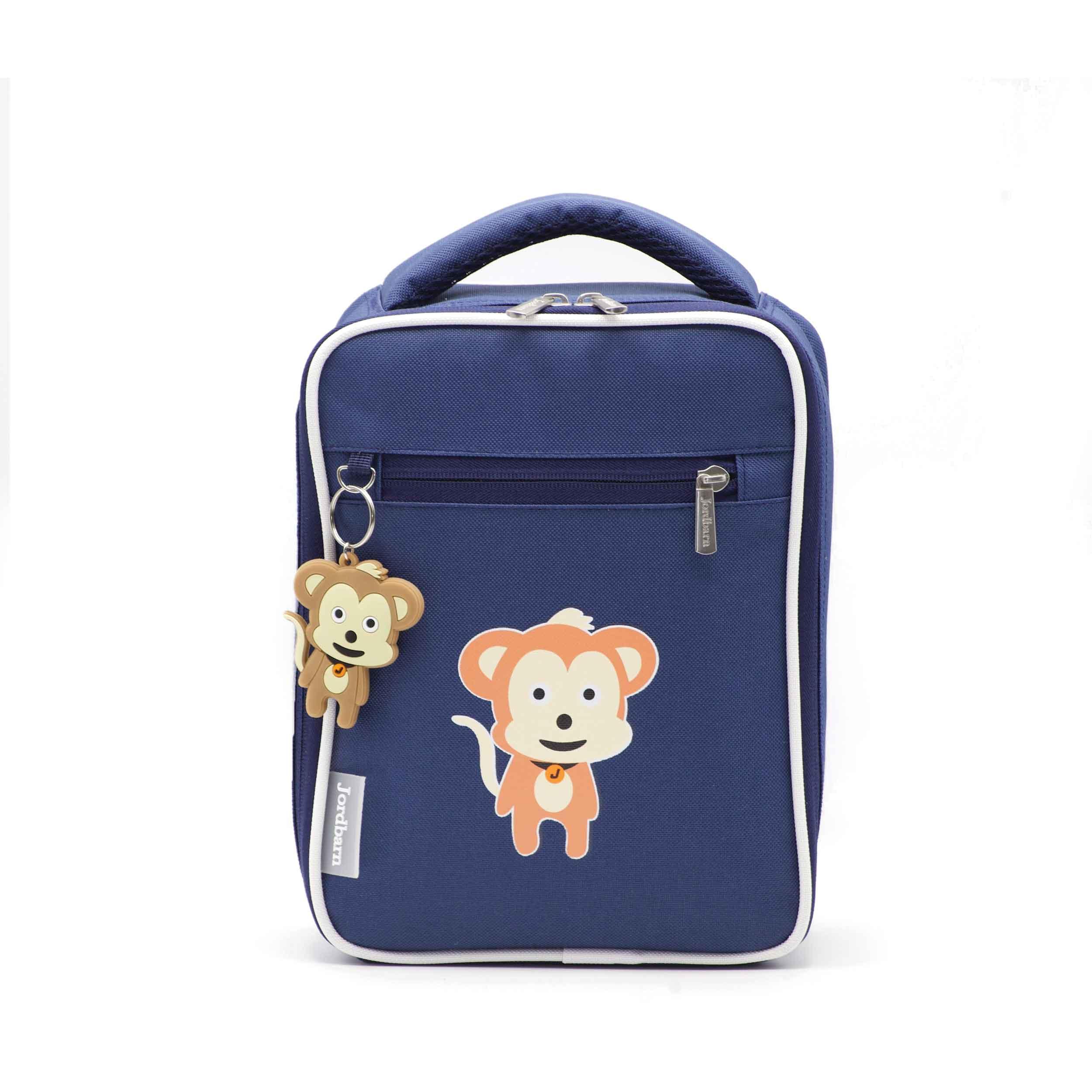 Bento cooler bag - monkey - indigo