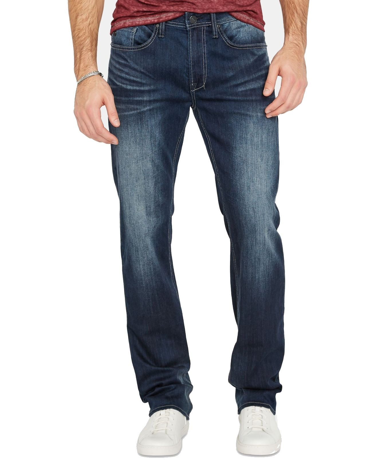 Buffalo David Bitton Mens Jeans Blue 30X34 Relaxed Straight Leg Stretch