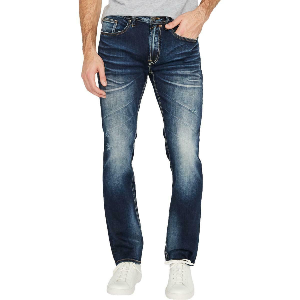 Buffalo David Bitton Mens Jeans Blue Size 38X32 Slim Ash Stretch