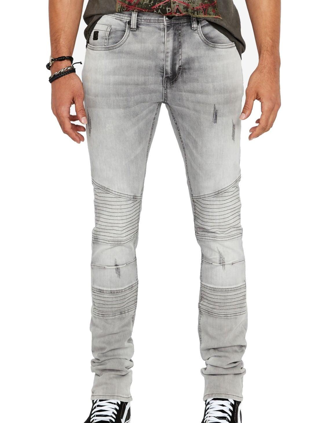 Buffalo David Bitton Mens Jeans Gray Size 38X30 Slim Skinny Stretch
