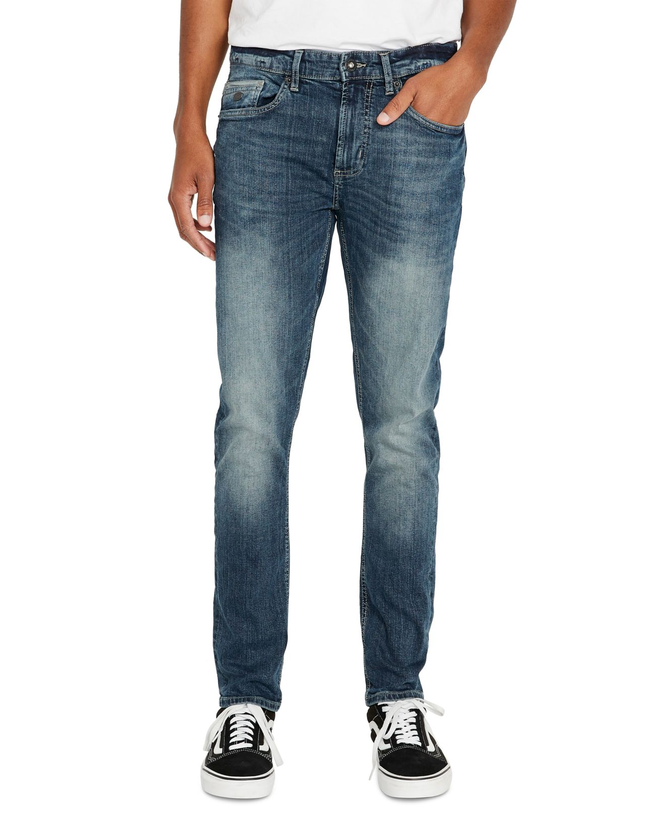 Buffalo Jean Mens Jeans Blue Size 32X32 Max-X Skinny Washed Stretch