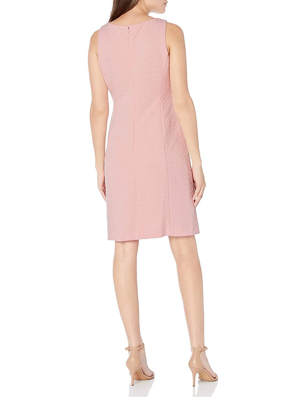 Cappagallo Women's Dress Pink Size 10 Sheath Brooke Textured V-Neck