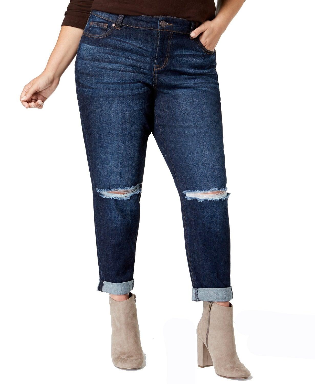 Celebrity Pink Women Jeans Blue Size 20 Plus Stretch Girlfriend Ripped
