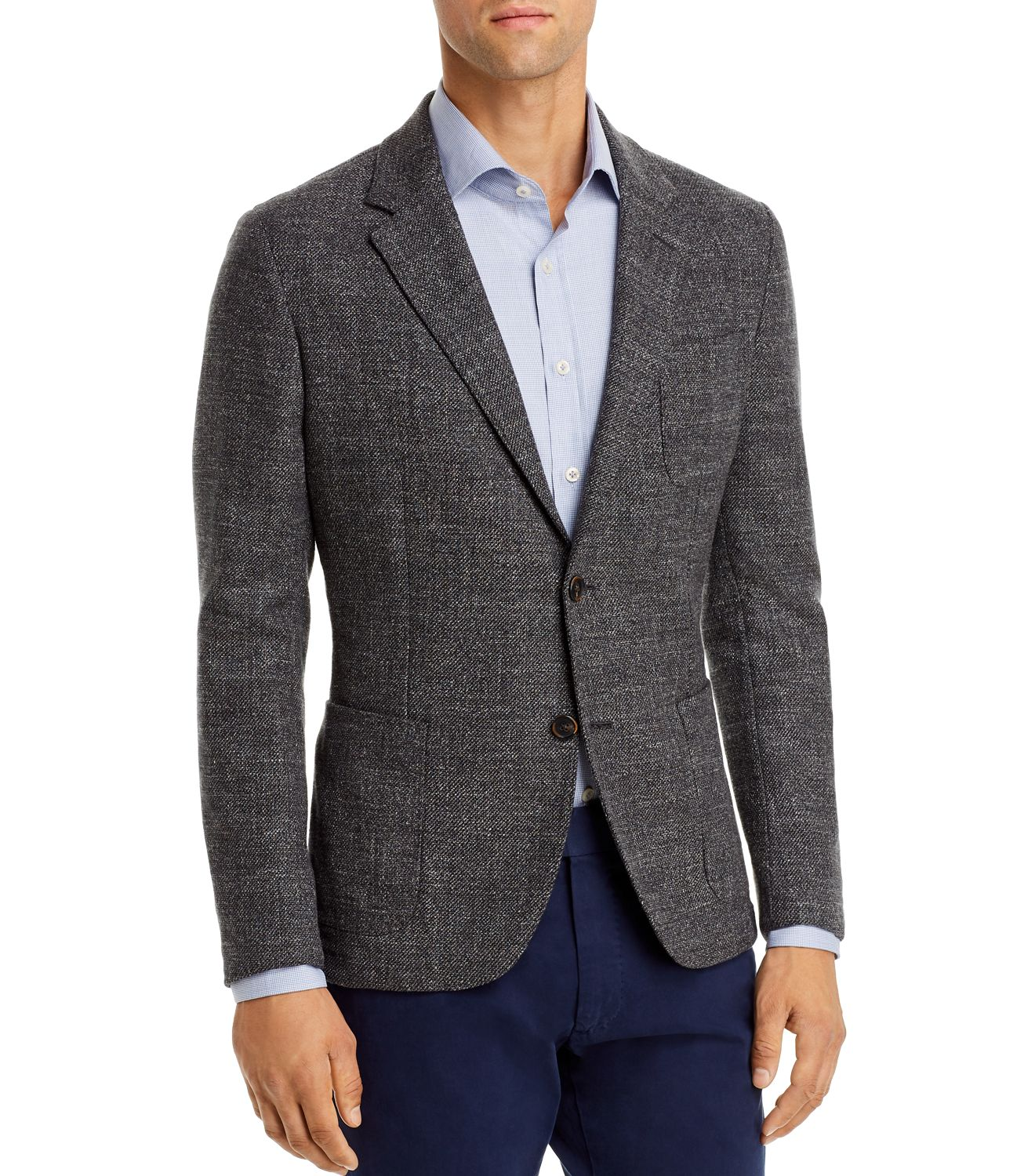 Dylan Gray Mens Sports Coat Dark Gray Size 46 Tweed Classic Fit