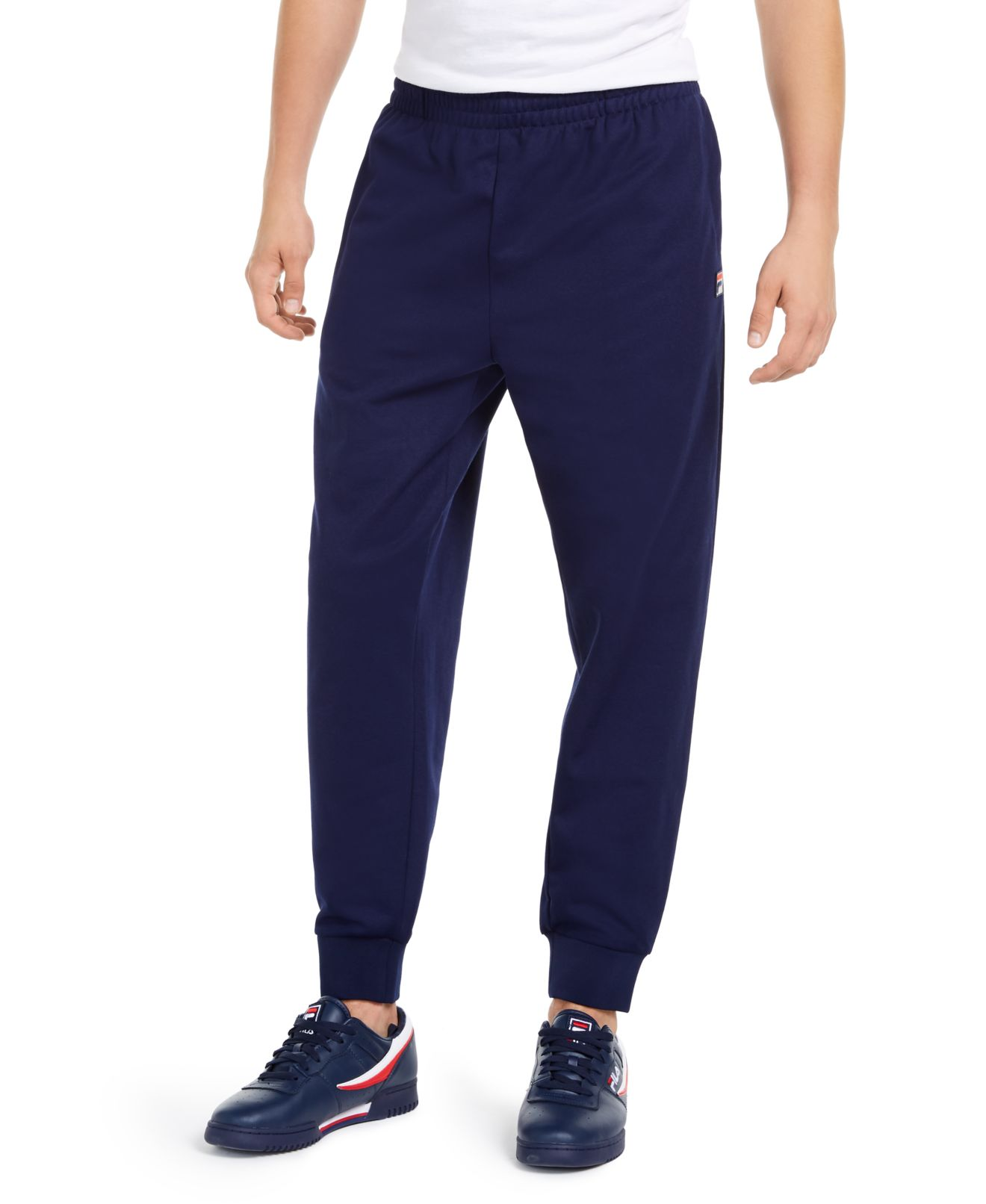FILA Mens Pants Navy Blue Size 2XL Naso Jogger Stretch Elastic Pull-On