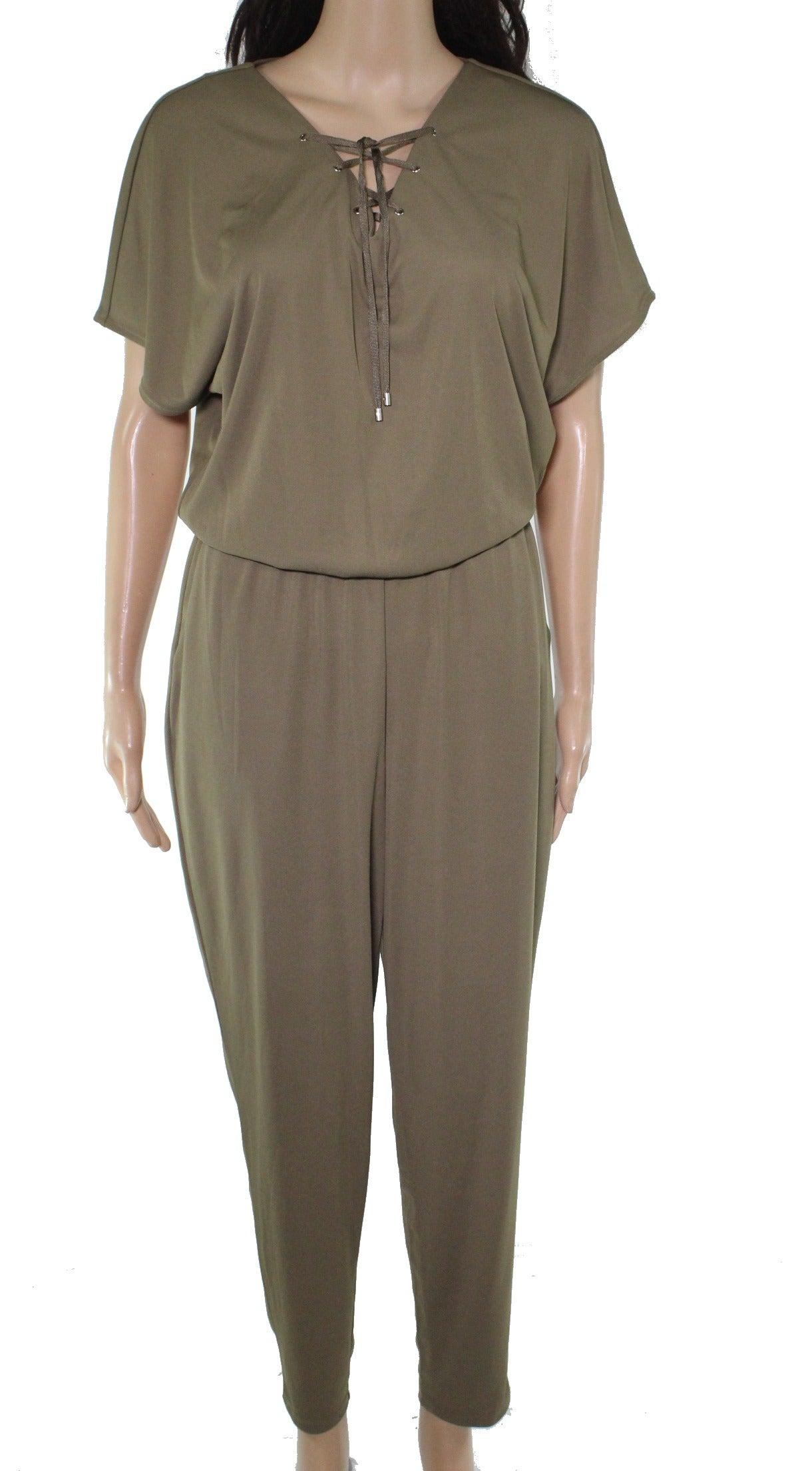 Lauren By Ralph Lauren Women's Jumpsuit Green Size Small S Lace Up