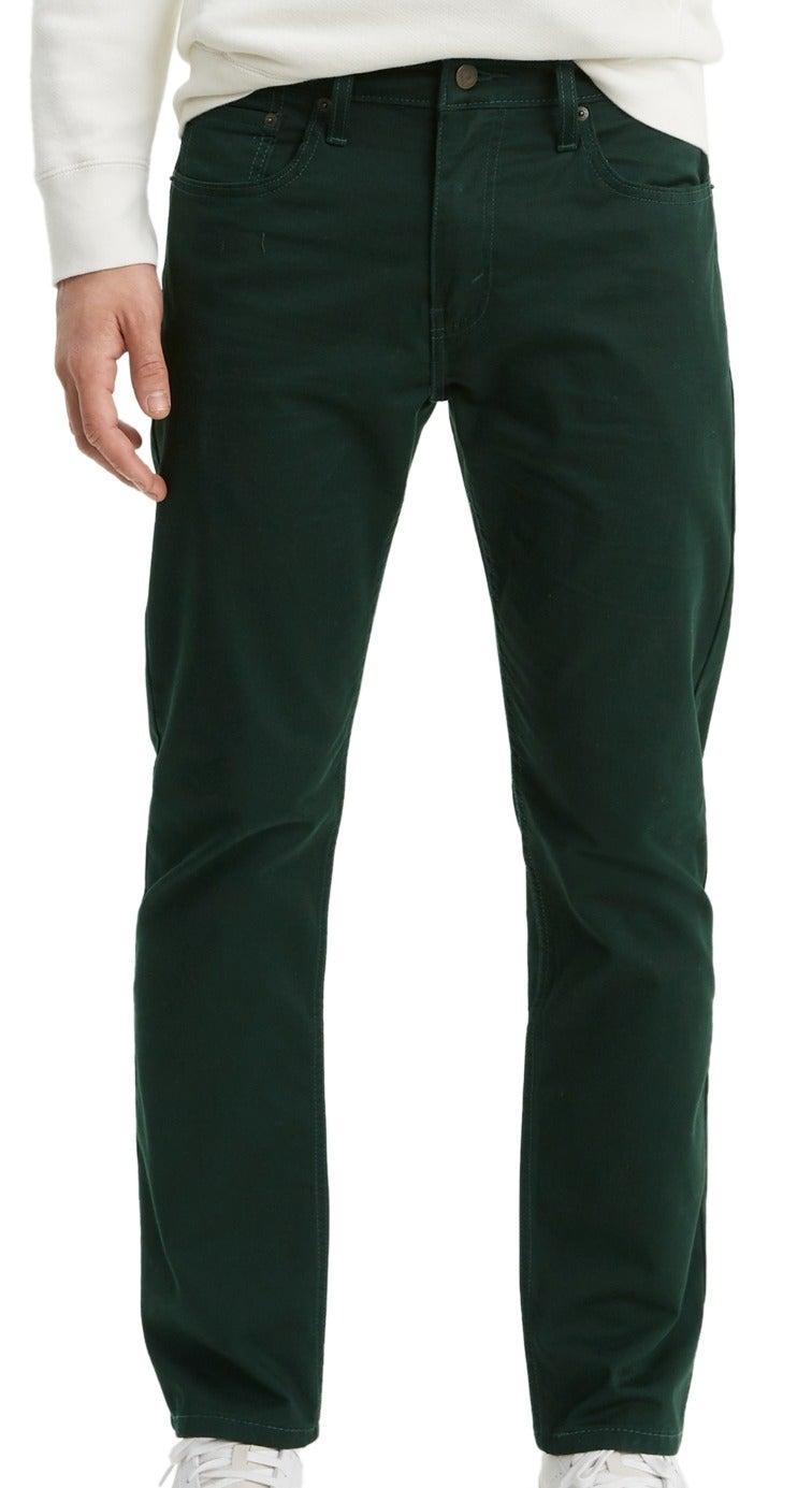 Levi's Mens Jeans Night Lagoon Green 36X32 502 Tapered Stretch Twill