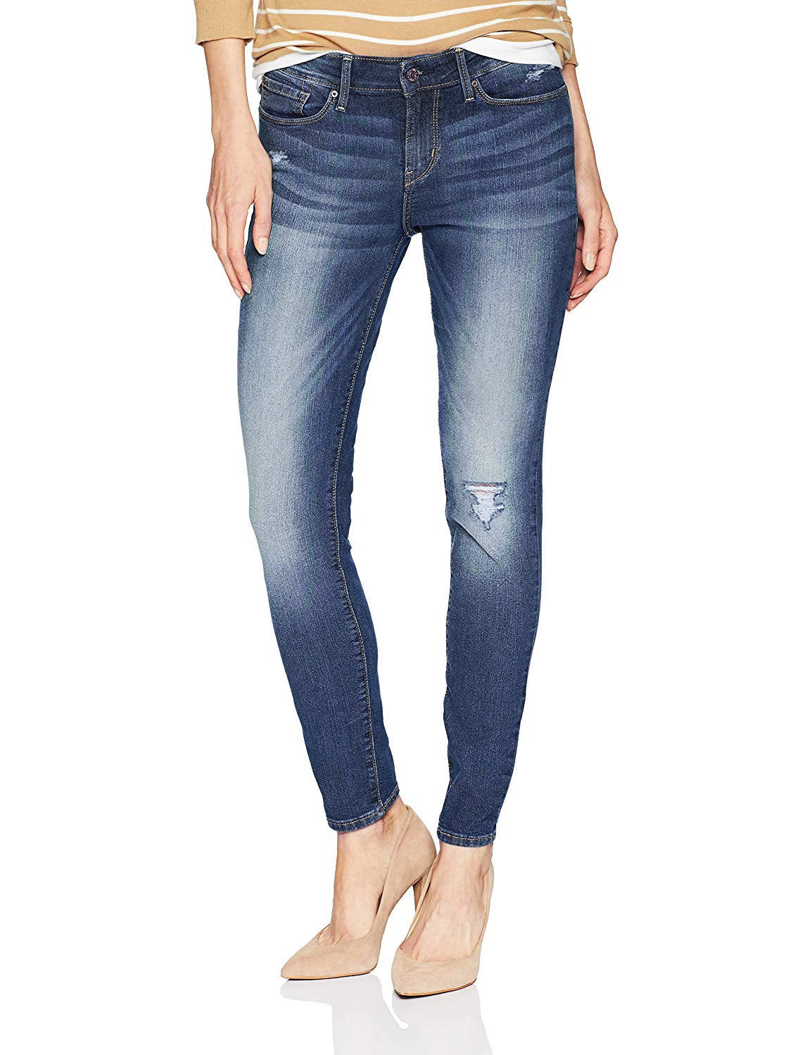 Levi's Signature Gold By Levi Strauss Skinny Distressed Stretch Jeans