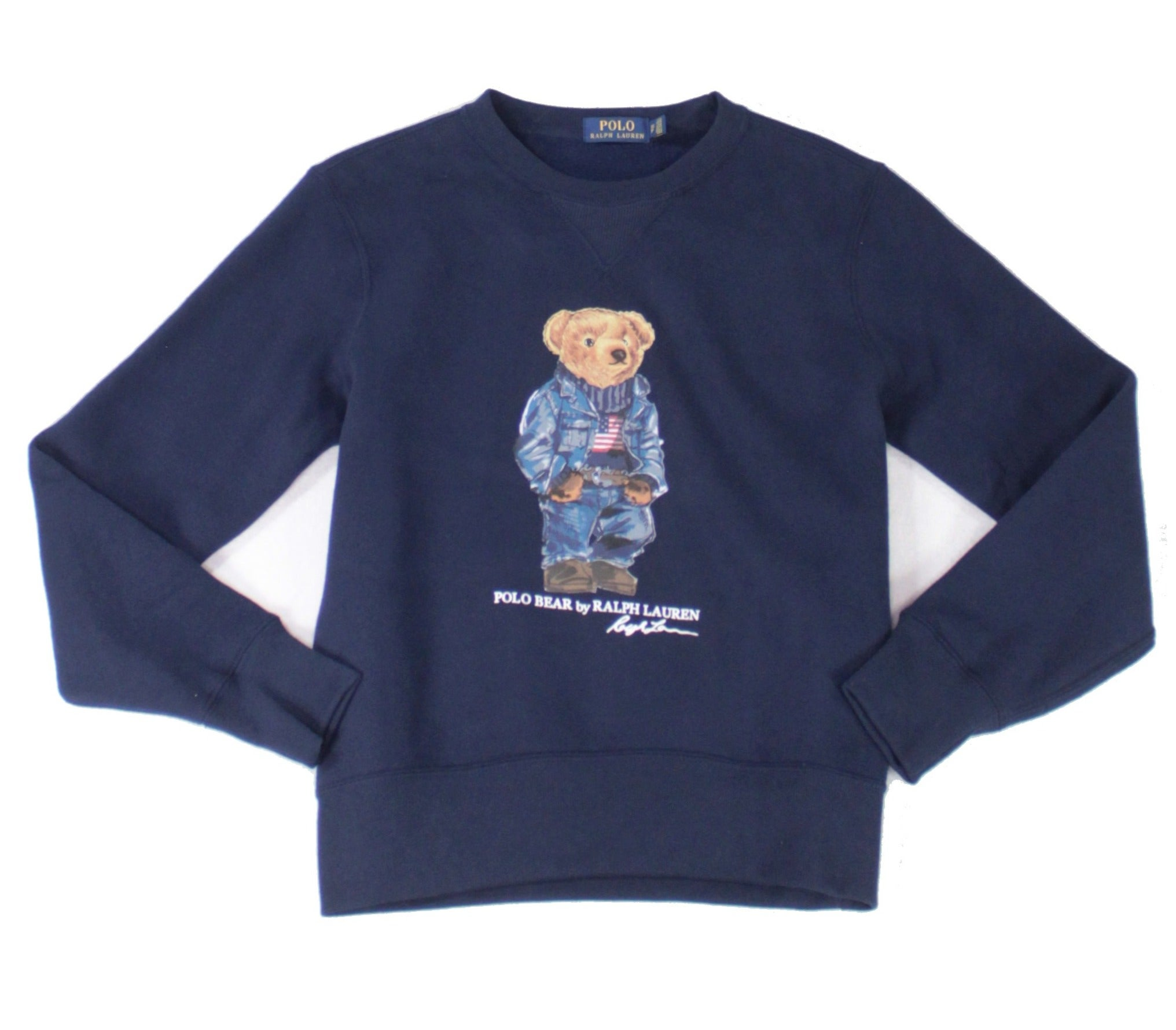 Polo Ralph Lauren Mens Sweater Blue Size XS Crewneck Fleece Pullover