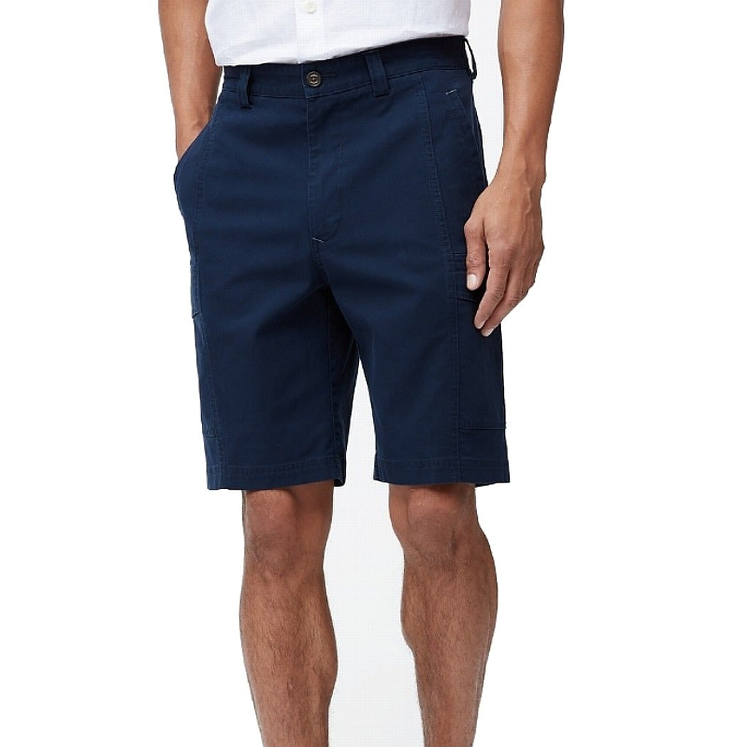 Tommy Bahama Mens Shorts Navy Blue Size 44 Flat Cargo Solid Stretch