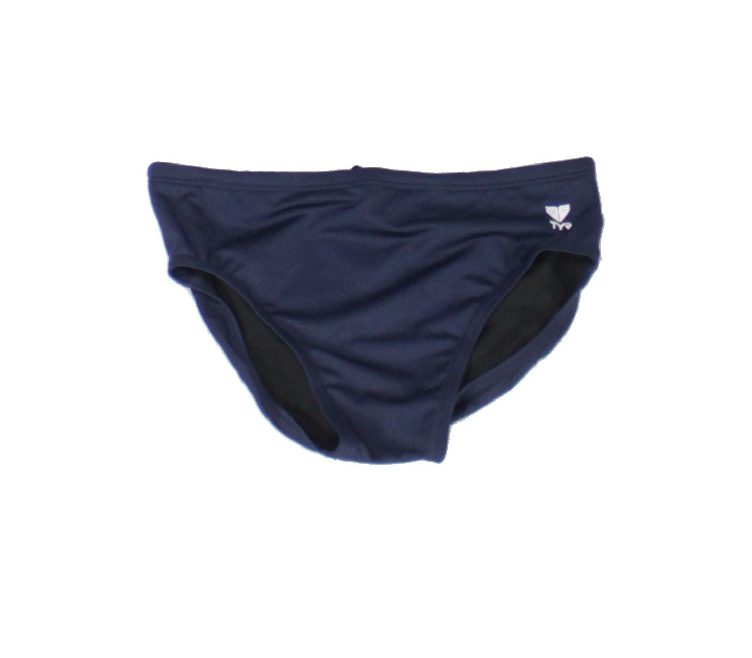 TYR Mens Swimwear Navy Blue Size 38 Swim Briefs Durafast Performance