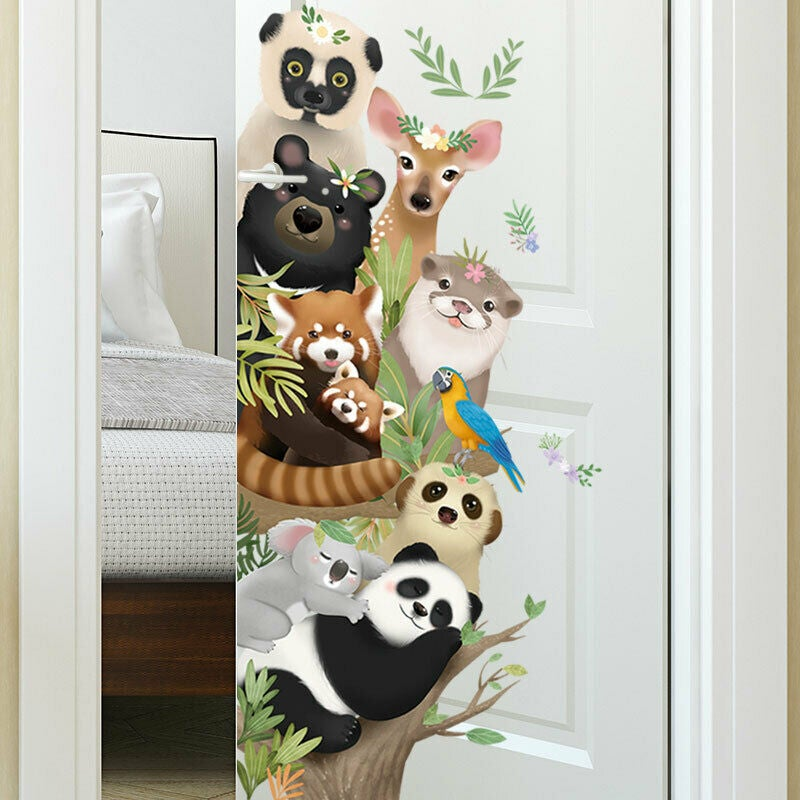 Cute Animals Removable Wall Stickers