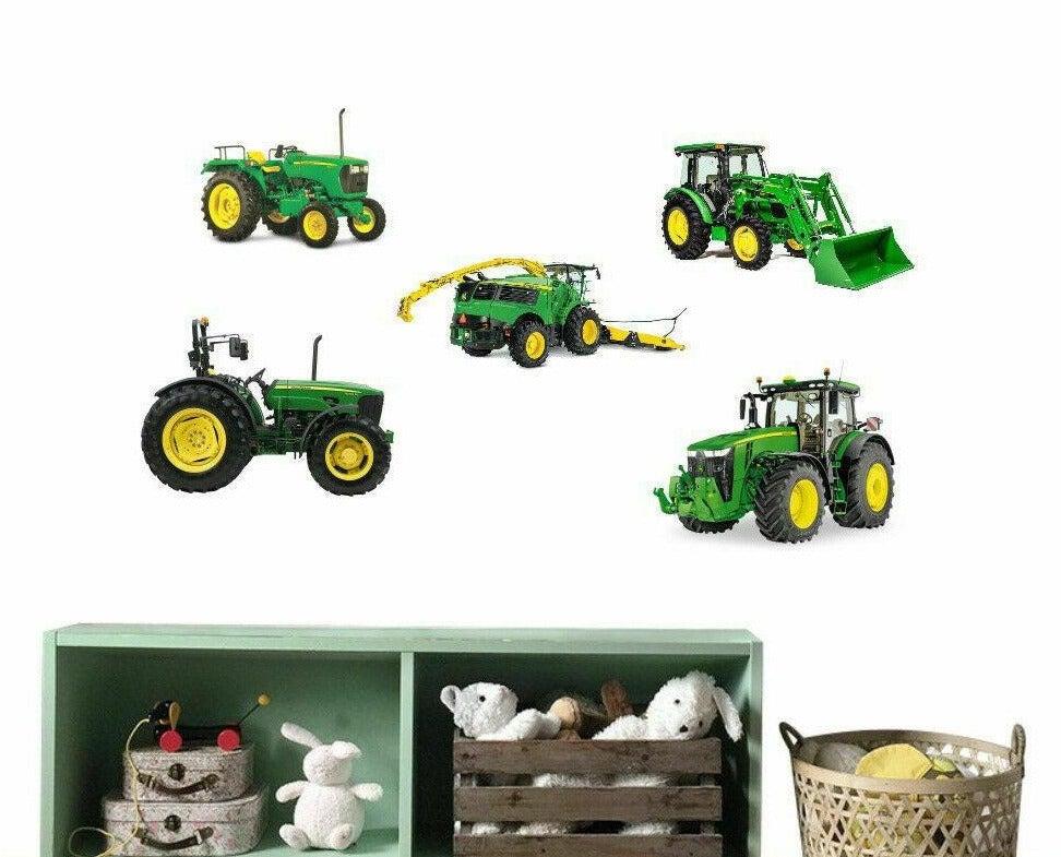 John Deere Tractor Removable Kids Wall Sticker