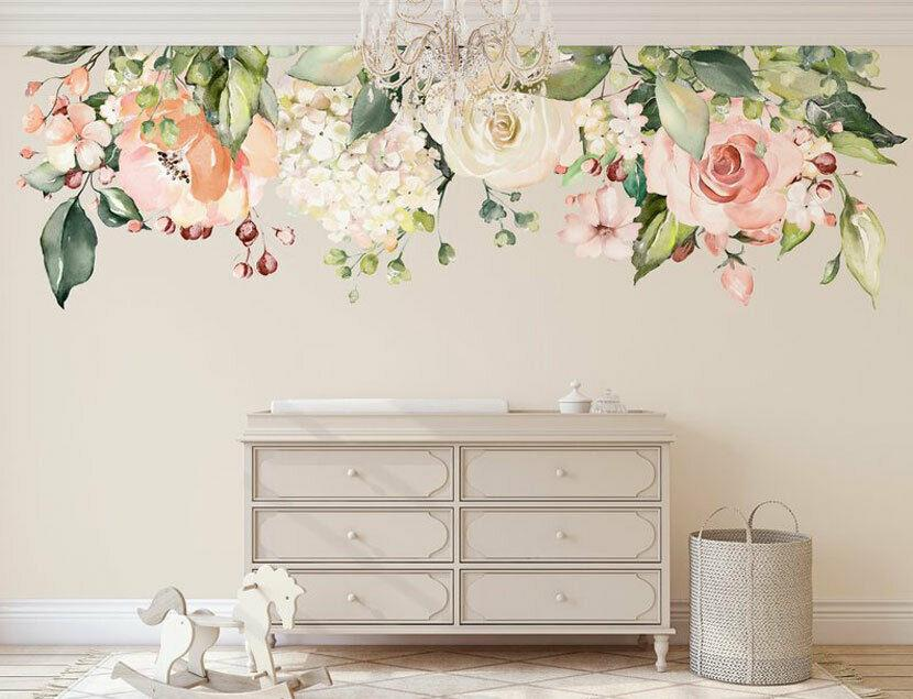 Rose Garden Flower Nursery Wall Sticker