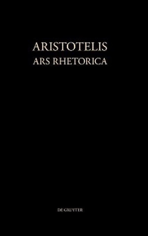 Aristotelis Ars Rhetorica [Greek, Ancient (to 1453)] - Philosophy Book