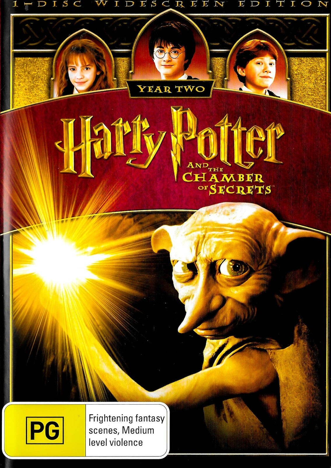 Harry Potter and the Chamberof Secrets -Rare Preowned DVD Excellent Condition Aus Stock -Family