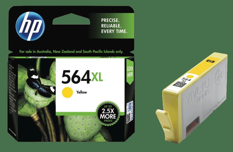 HP High Yield Inkjet Printer Cartridge, Yellow, 56899