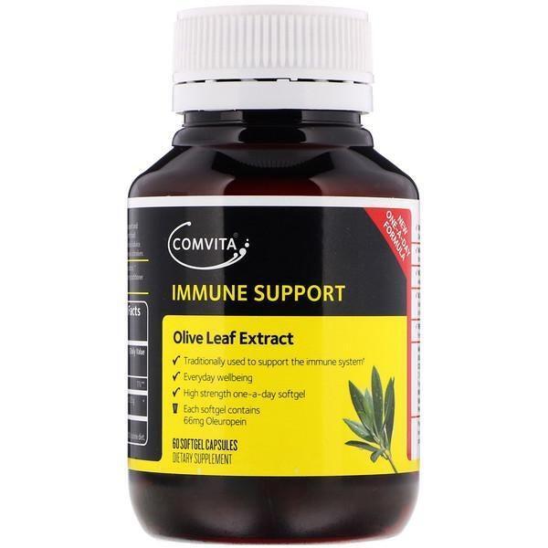 Comvita, Immune Support, Olive Leaf Extract, 60 Softgel Capsules