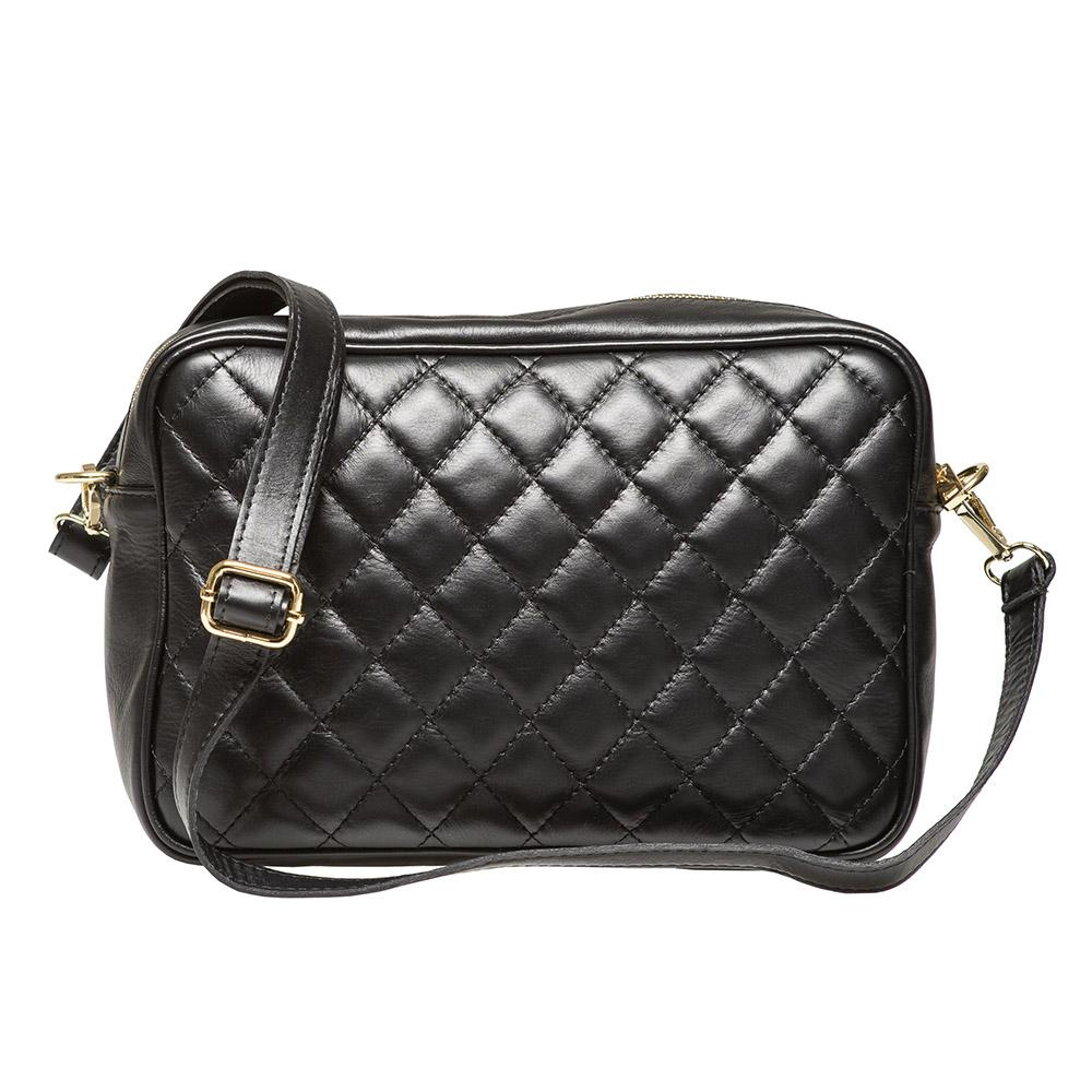 Taylor Black Quilted Leather Shoulder Bag