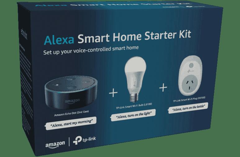 AMAZON ALEXA SMART HOME STARTER KIT - SMART LIGHT BULB + SMART POWER PLUG