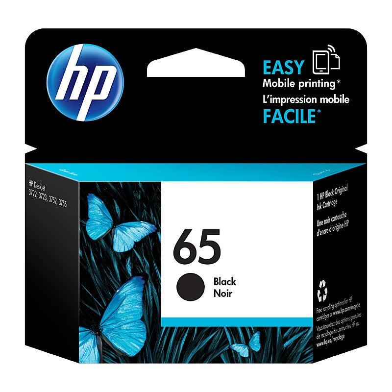 HP #65 Black Ink N9K02AA