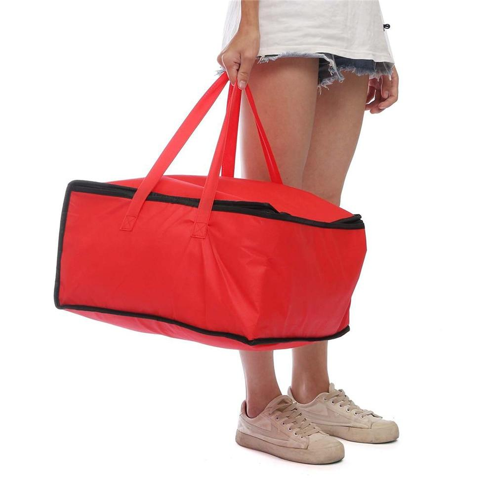 16.5 inch Red Insulated Food Delivery Cooler Bag