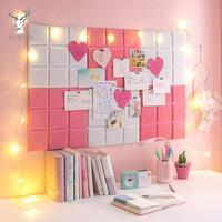 2pcs/set Felt Letter Board Work from Home Office Decor Message Board Organiser O01