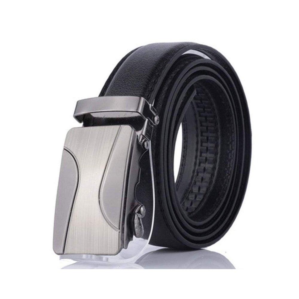 Belts Men's Leather Automatic Buckle Belt Fashion Adjustable Dress Belt
