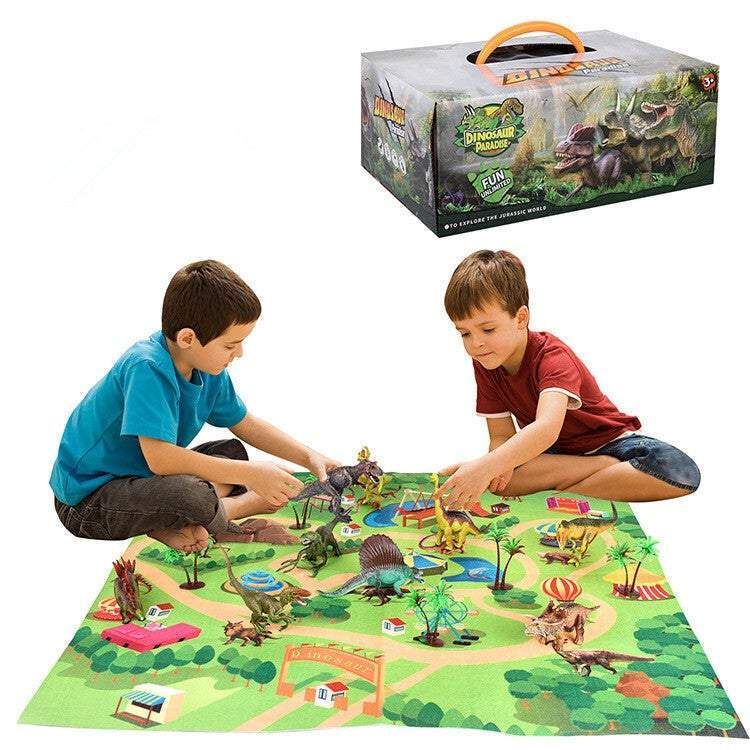 Dinosaur Play Mat with Little Dino Toys Imaginative Educational Kids Toys
