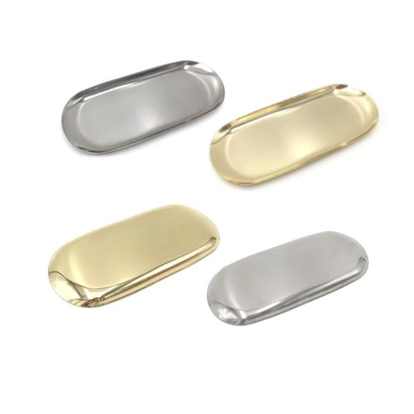 Golden Tray Bathroom Storage Organisation