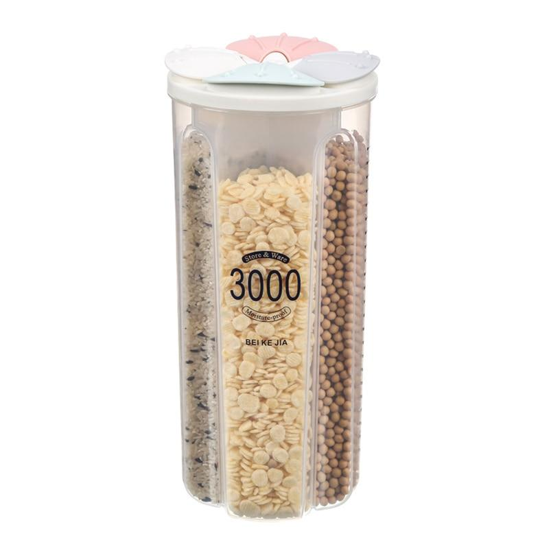 Kitchen Plastic Compartment Food Storage Containers
