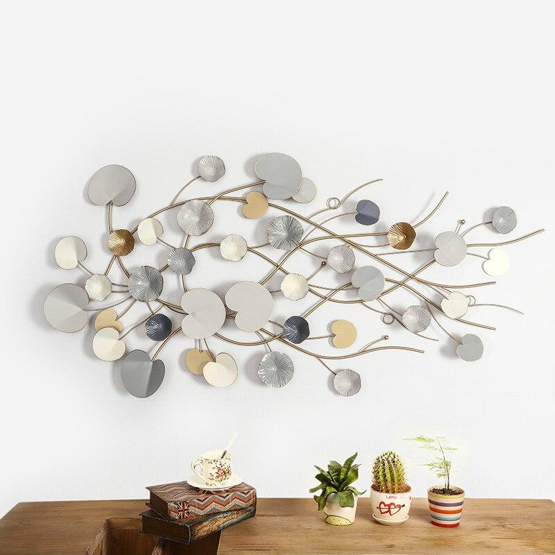 Modern European Style Wall Decoration 3D Iron Metal Wall Art Hanging Home Decor
