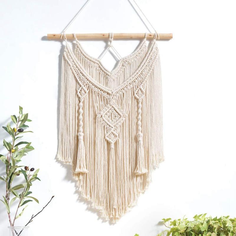 Natural Macrame Wall Hanging Tapestry Boho Home Decor