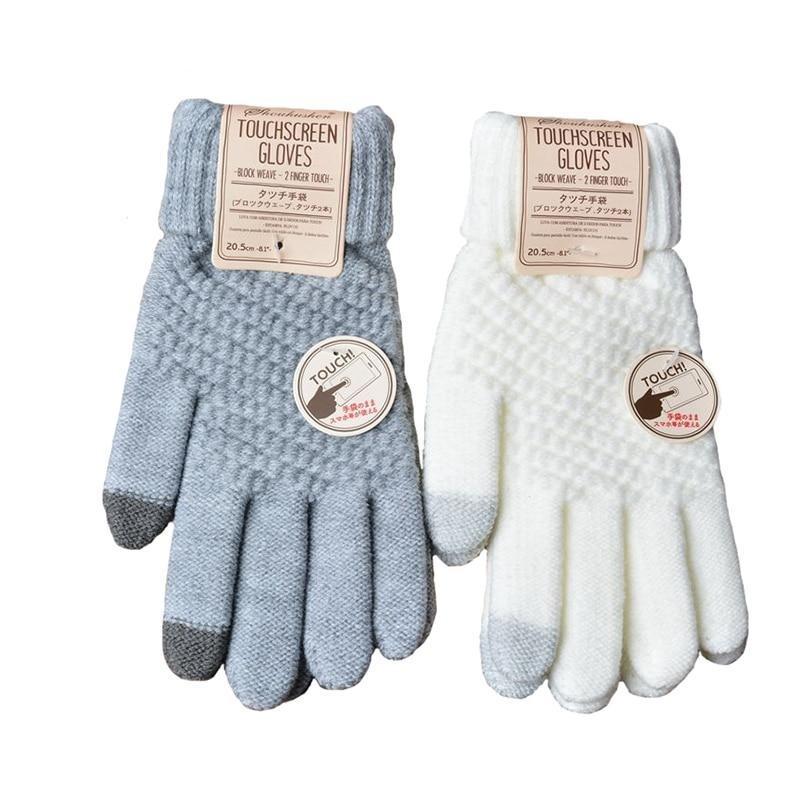 Smart Touchscreen Cashmere Knitted Winter Gloves Women