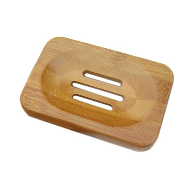 Wooden Natural Bamboo Soap Dish Soap Holder Bathroom Accessories