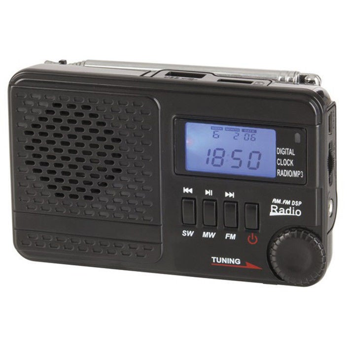 Digitech AM FM SW Rechargeable Radio with MP3 Supports USB Fash Drive