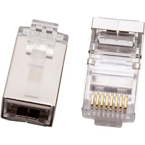 CABAC CAT6 Modular RJ Plug - Shielded 50PACK High quality pins with 50�m gold plating