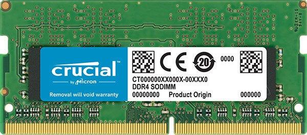 Crucial 8GB DDR4 SODIMM 2400MHz CL17 Unbuffered Single Stick Laptop Memory