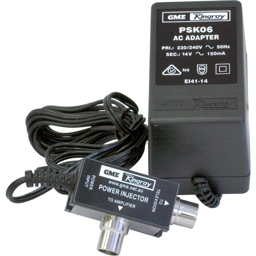 Kingray PSK06 Plug Pack 14V DC 150 MA Powersupply Injector for Booster Amplifier